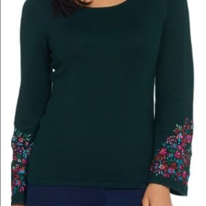 Whisper Knit By Louis Dell'Olio green sweater Sz L